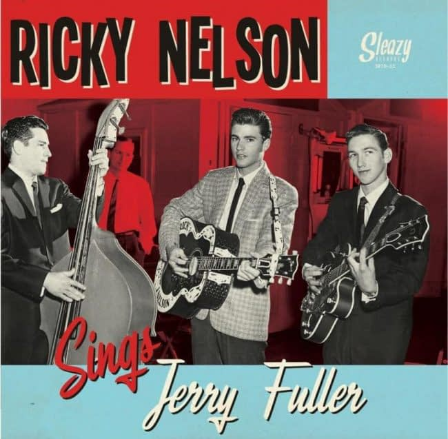 """RICKY NELSON - SINGS JERRY FULLER - SLEAZY 10"""" LP RED WAX"""